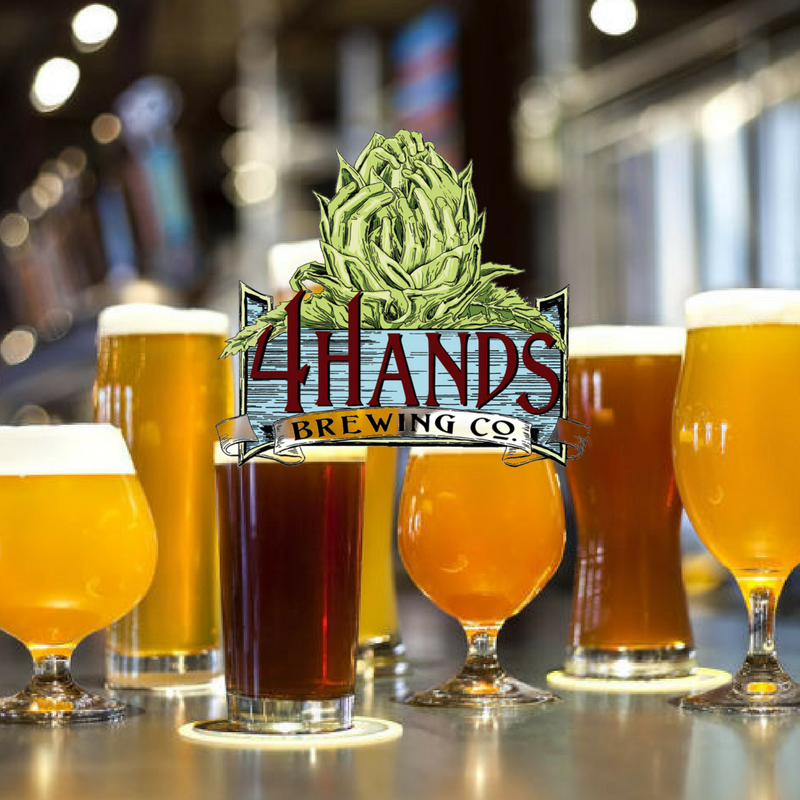 Taste beers from 4 Hands Brewing Company (part of the bottomless happy hour cup).