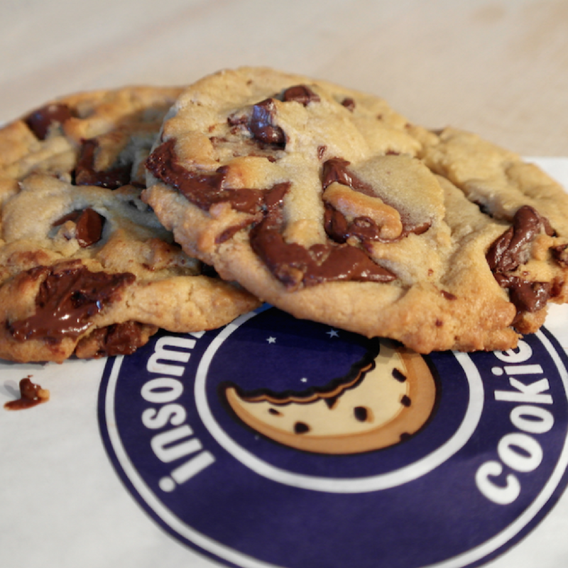 Insomnia Cookies  specializes in delivering warm, delicious cookies right to the doors of individuals and companies alike - until 3am