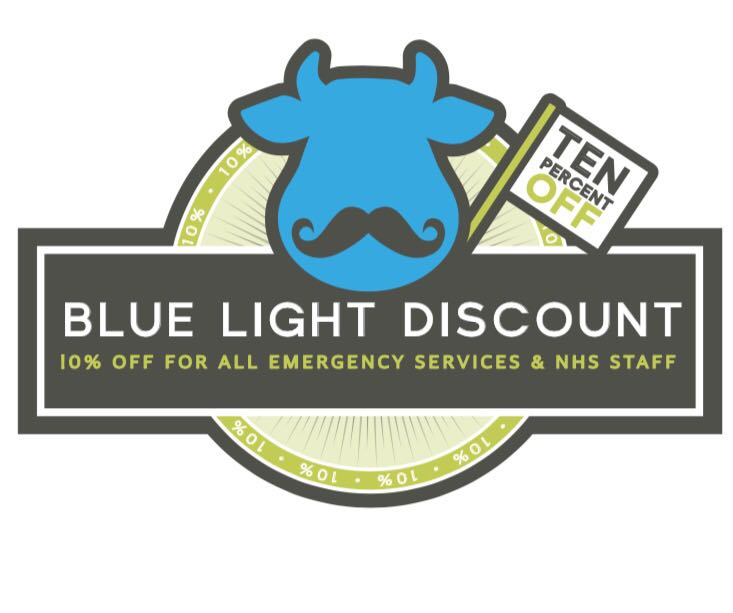 Blue light discount - If you are a member of the emergency services or the military we would like to say thank you with a 10% discount on your bill.
