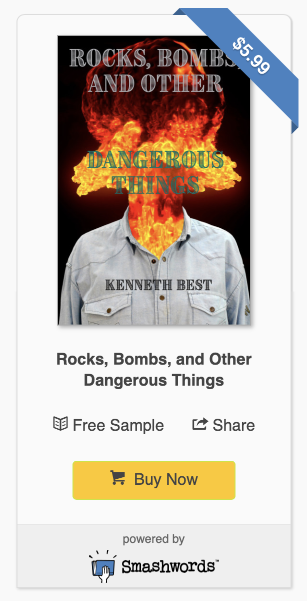 AVAILABLE NOW: EBOOK BY KENNETH BEST - Rocks, Bombs, and Other Dangerous Things is a collection by Kenneth Best Jr., in which he captures the essence of wrath, retribution, and redemption. The theme of these stories is trauma, its long-term effects, and the different responses and coping mechanisms of various people. In 'Rocks', a young man flees a massacre to find himself in the hands of the people responsible. In 'The Room', a grieving mother attempts to figure out her next steps as a CIA agent informs her about her son's death. 'A Vanishing Point' is about a pair of siblings who kidnap a drug lord in their uncle's employ. In 'Twist and Pull', a combat veteran receives a mysterious package and protects his home from intruders who are interested in its contents. Finally, 'Rocks, Pt. 2' is about two lovers who fight through trauma to stay together.PRESS RELEASE: ROCKS, BOMBS AND OTHER DANGEROUS THINGS