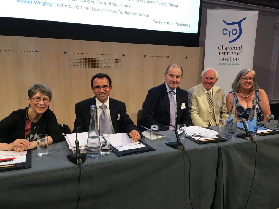Debate Panel: (Left to right) Bennett, Adam, McCann, Draper and Wrigley
