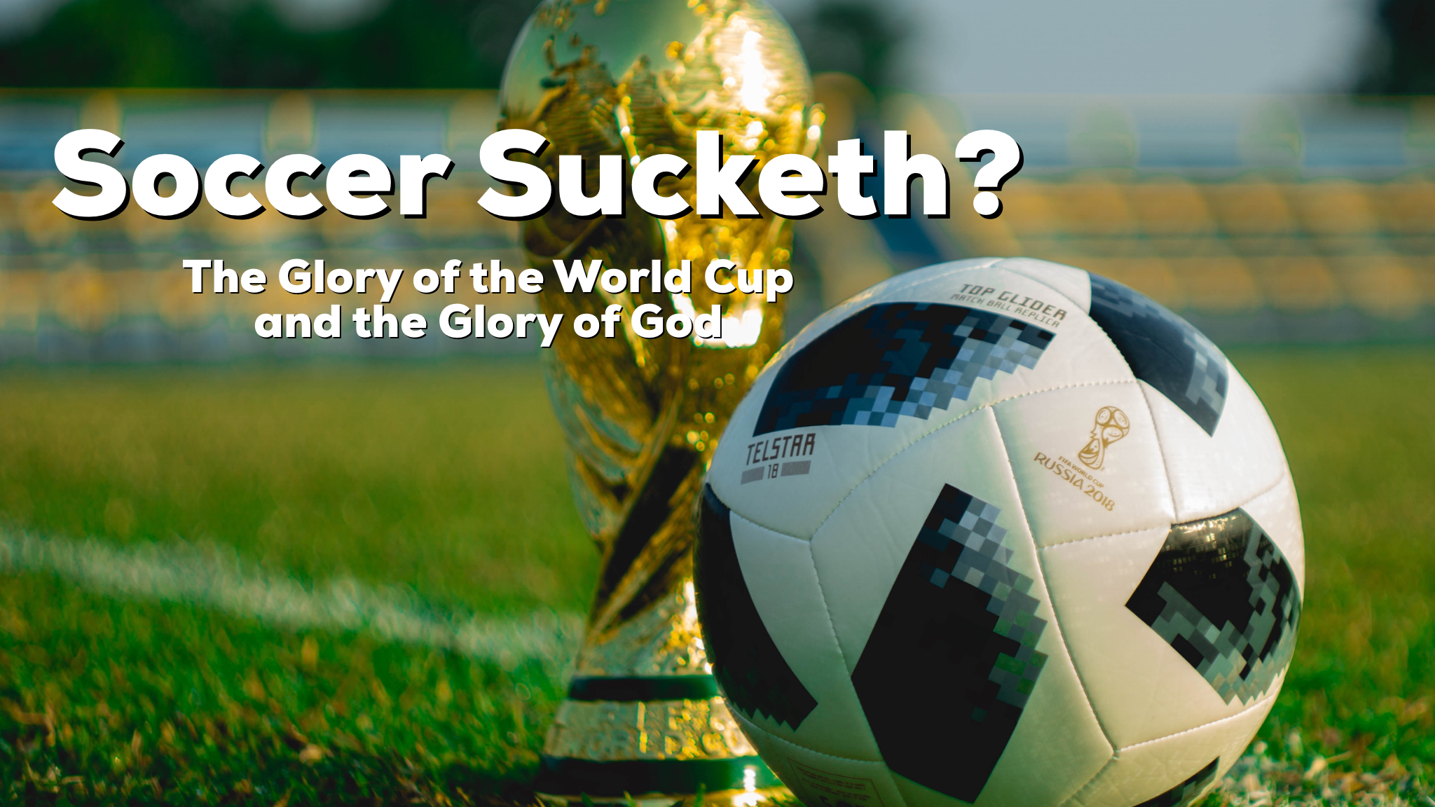 Reid and Jesse discuss the beautiful game of global football, its growth in America and how the glory of our games can be idolatrous or beautiful in the hearts of people.
