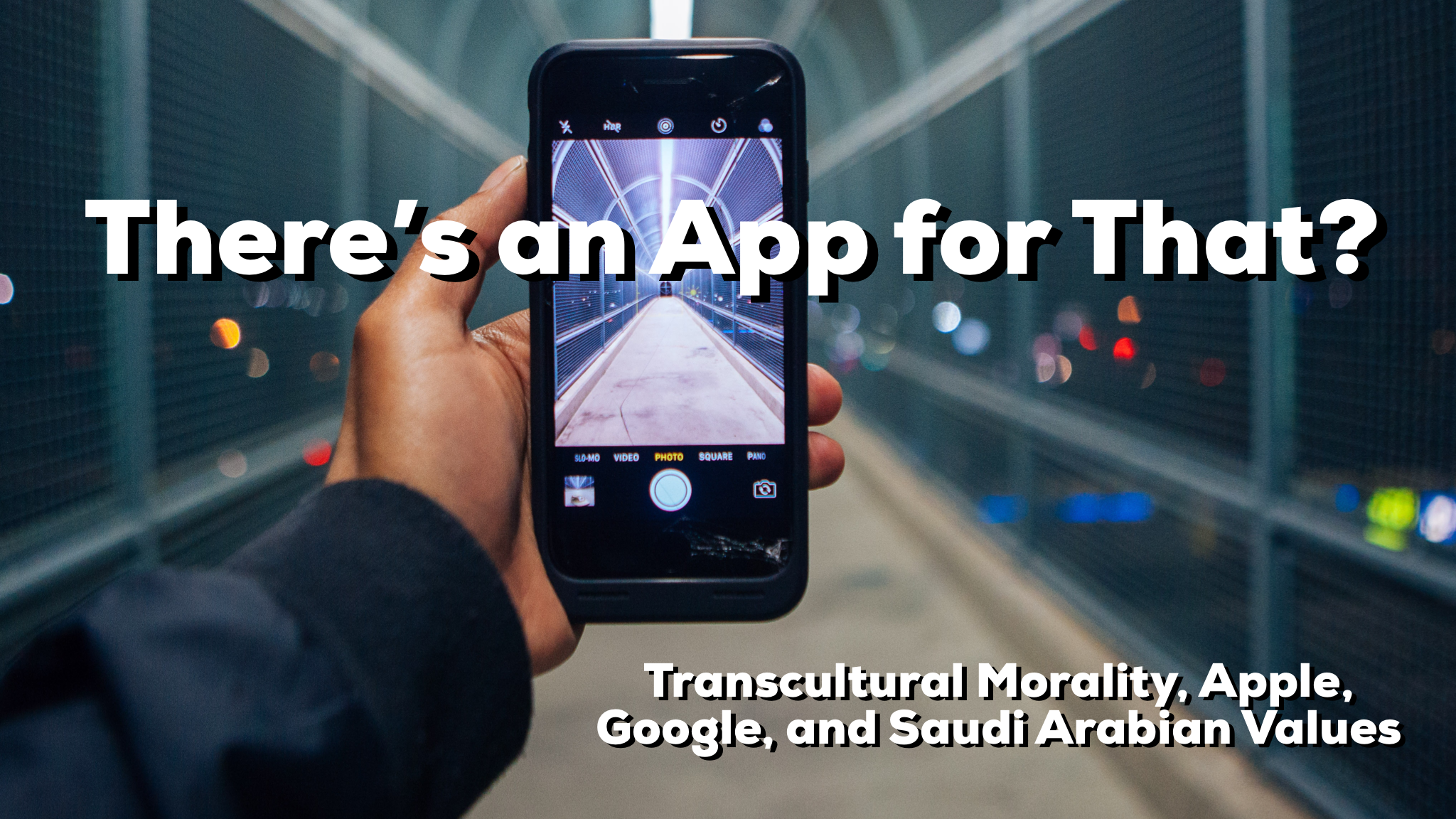 Reid and Jesse discuss the moral outrage aimed at Apple and Google for offering up  Saudi Values  in their Saudi Arabian app stores.