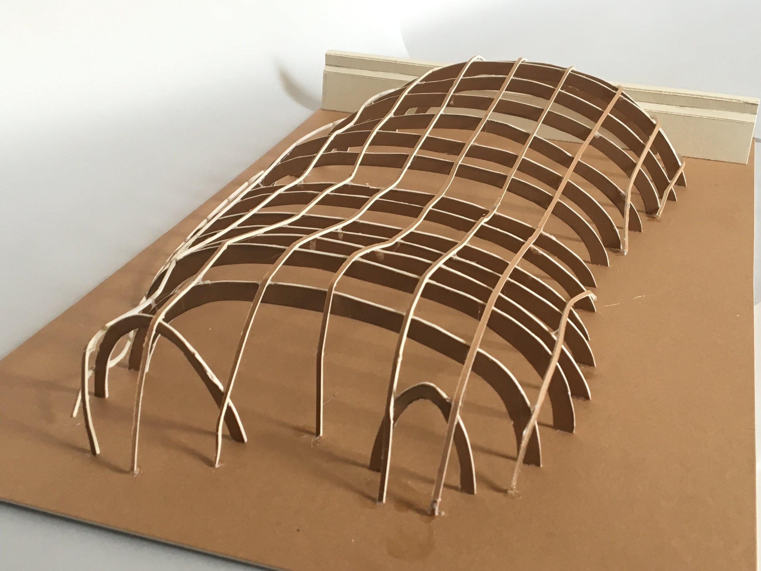 Structural Model - Sheppey Aquatics Centre