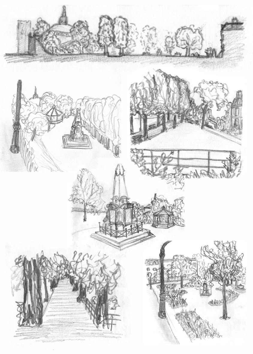 Dane John Gardens Sketches