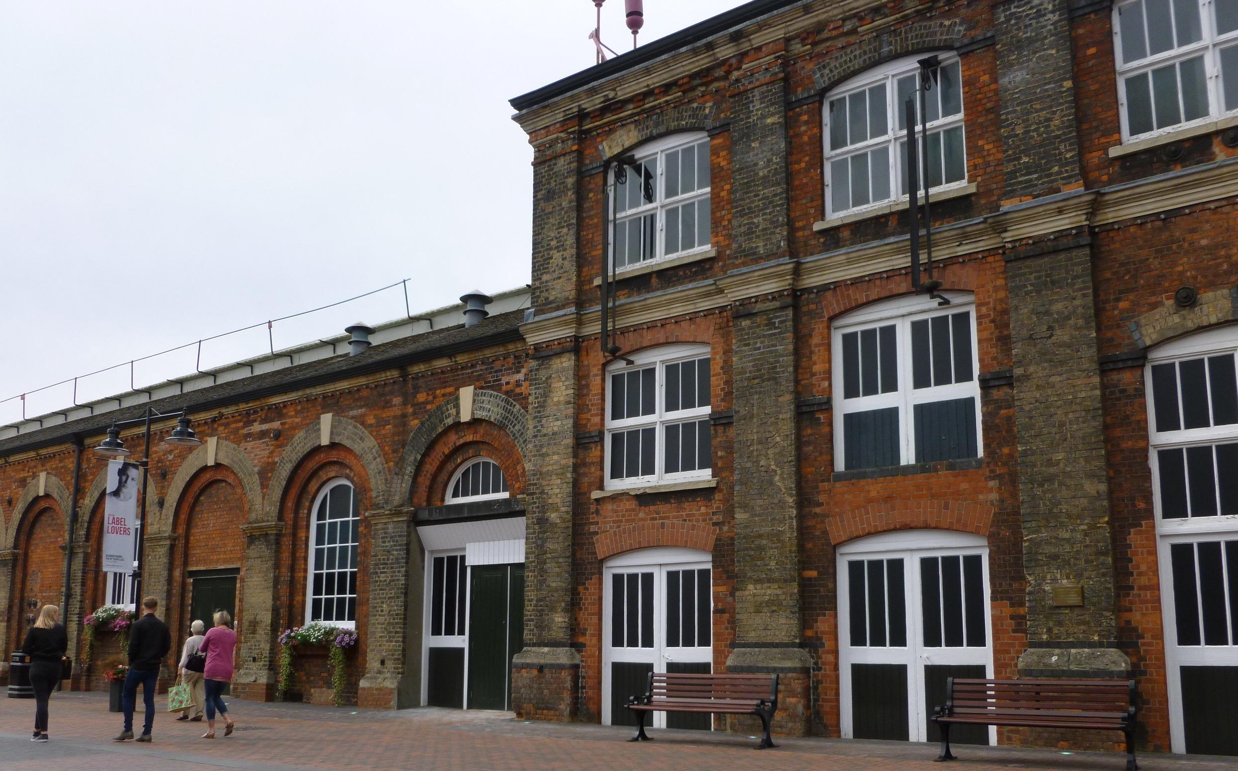 Brick work at Swindon Designer Outlet.