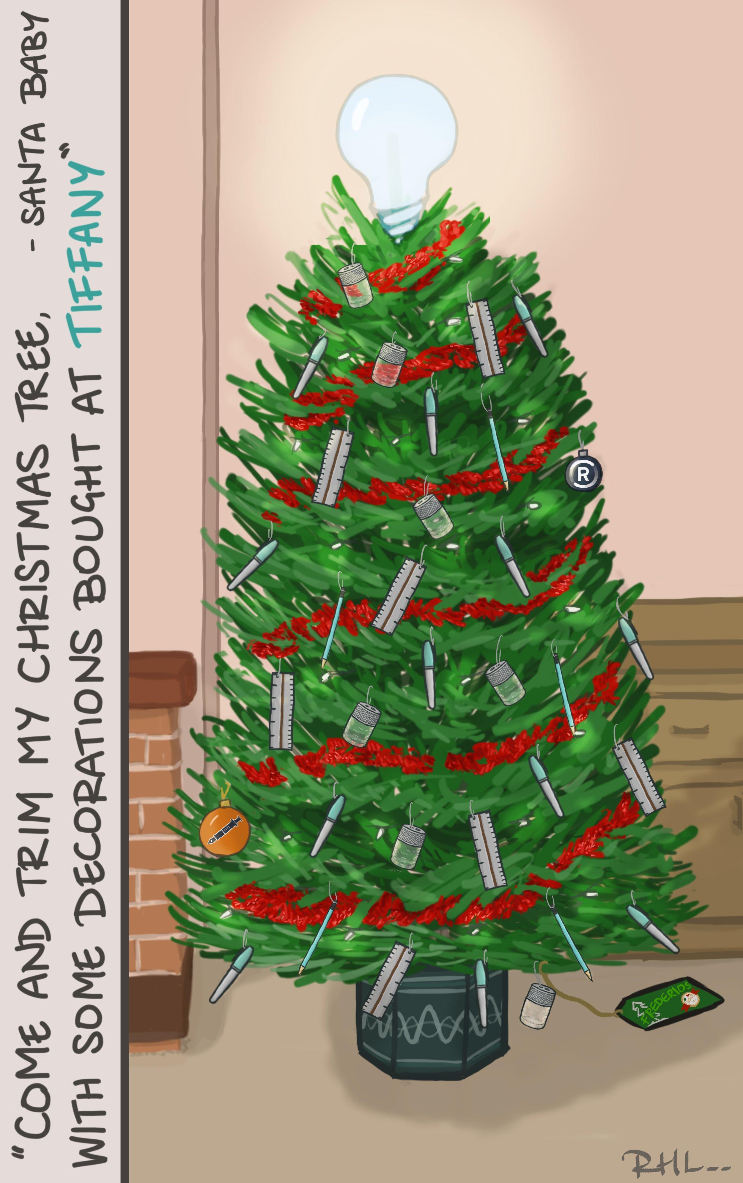Tiffany Stationery Tree