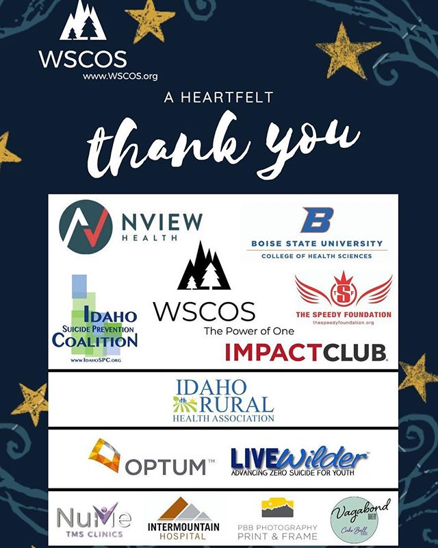 Registration closes tonight at midnight. Www.wscos.org ⭐️⭐️⭐️ Thanks you to our incredible sponsors for their support of suicide prevention.