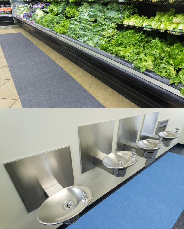 Shops aren't the only place our mats can be used!  Anywhere there is moisture or the possibility of slipping and falling, our mats are a very affordable way to reduce the risk to your customers and employees.