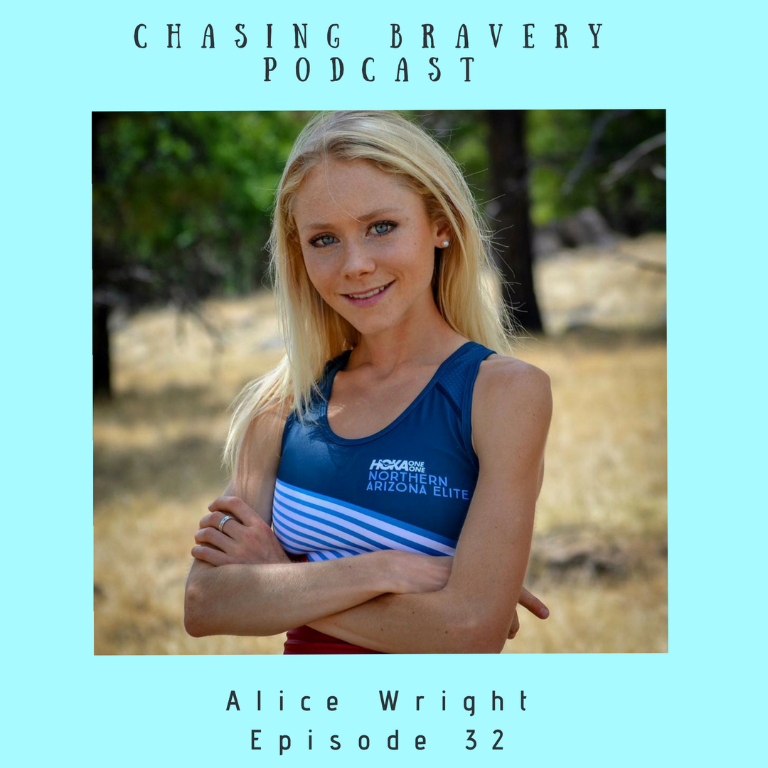 Welcome to episode number 32!  In this episode I am speaking with Alice Wright. Alice is a freshly signed professional distance runner for Hoka One One and was an absolute pleasure to get to know better. Alice moved from her home across the pond to the United States as a freshman in college. Her move would have been a big transition no matter where she settled, but Alice decided to go to the University of New Mexico- talk about a climate and scenery shock. Alice and I chat about how her freshman year didn't go smoothly on the running front (she likes to say she was social networking), and how she returned home for the summer with a dedication to coming back in the fall ready to really secure her spot on the team and make her coach proud. Alice did just that, graduating as an 8x NCAA All American- including two runner-up finishes in the 10k. Alice and I talk about her decision to become a professional runner, what it's like to live with Steph and Ben Bruce, how exited she is for her career going forward, and so much more!  Alice is kind, sweet, determined, brave, and fierce and it was such a pleasure to have her as a guest on the show!