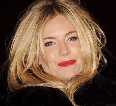 SIENNA MILLER WEARS BLUE/RED