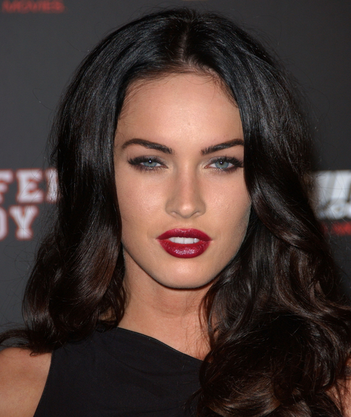 MEGAN FOX WEARS BERRY RED