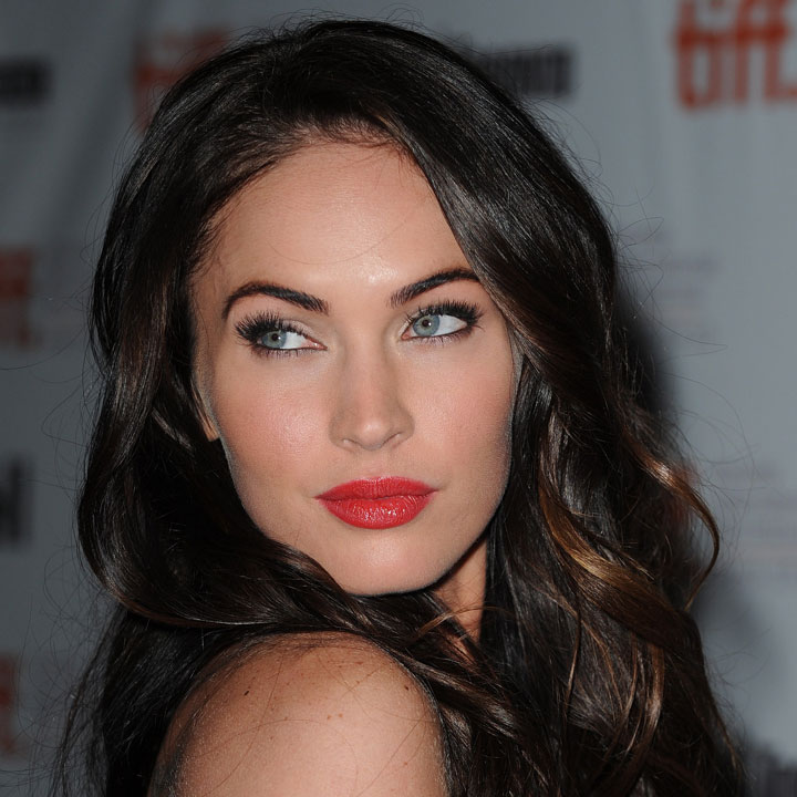 MEGAN FOX WEARS BRIGHT RED