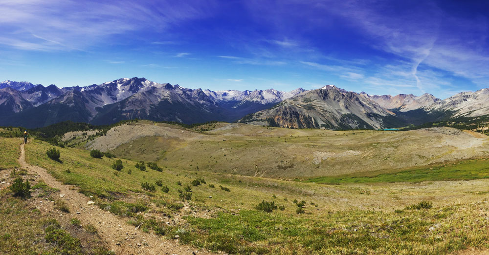Views for days as we cruised through open meadows.