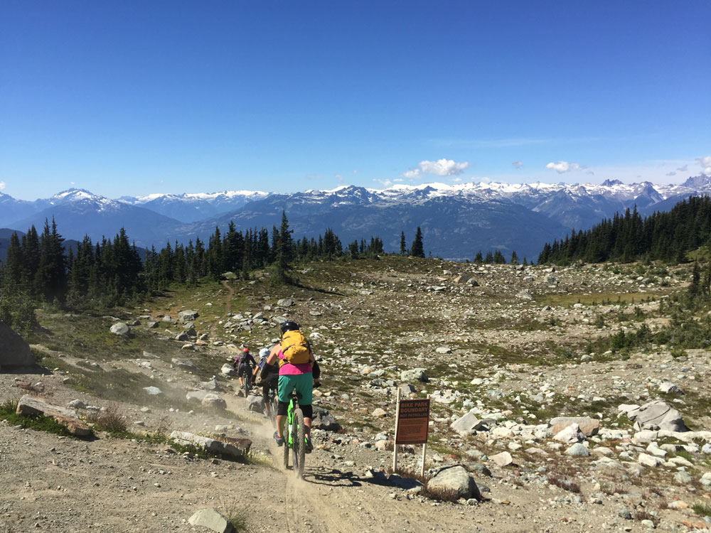 We kicked off the MTB portion of the week by hitting Whistler. While most of this day was terrifying for me (after all we took a 20 minute gondola and a chair lift up before starting the descent), the views were stunning… and most of the group got through the day without any tears.