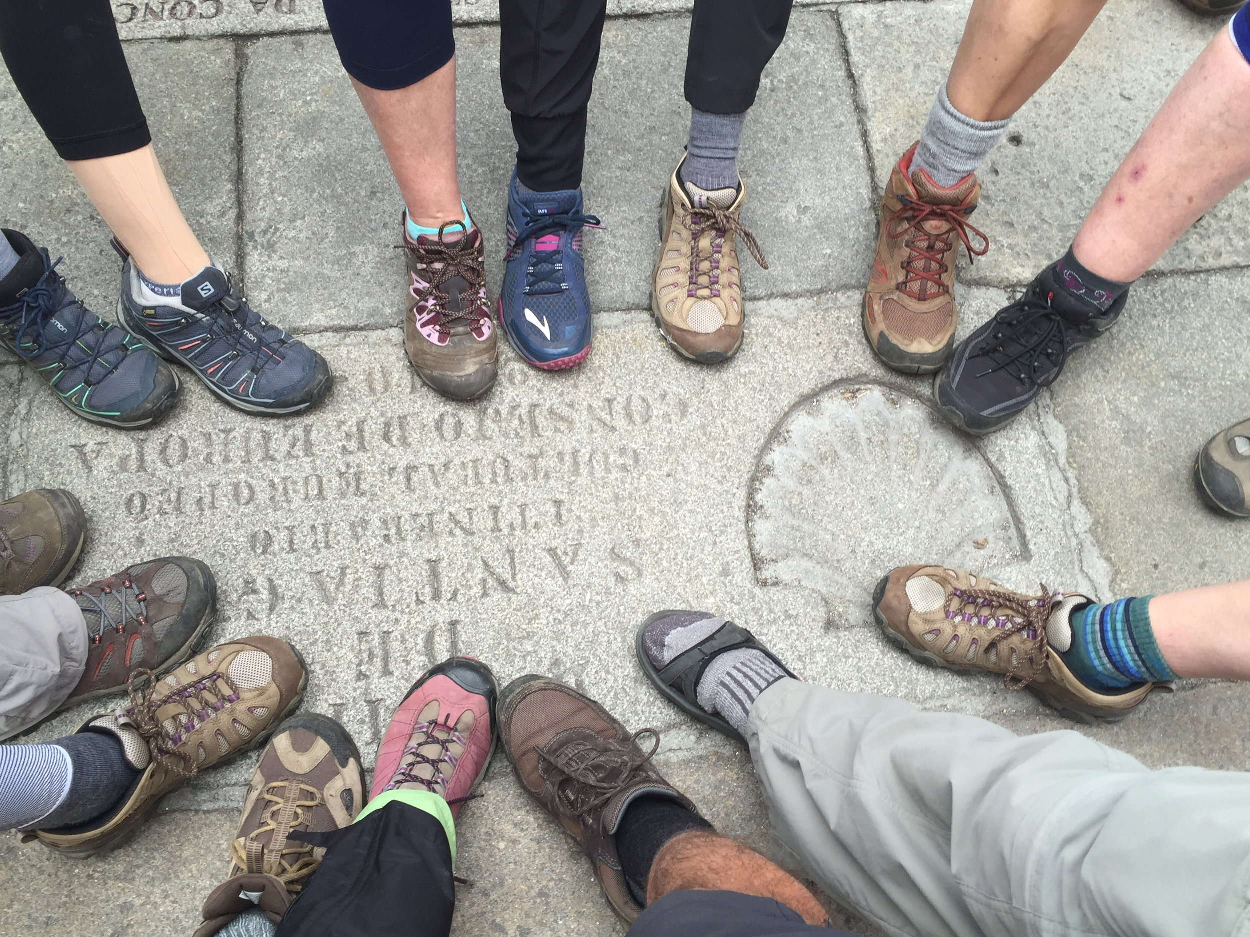 Camino de Santiago Pilgrim feet
