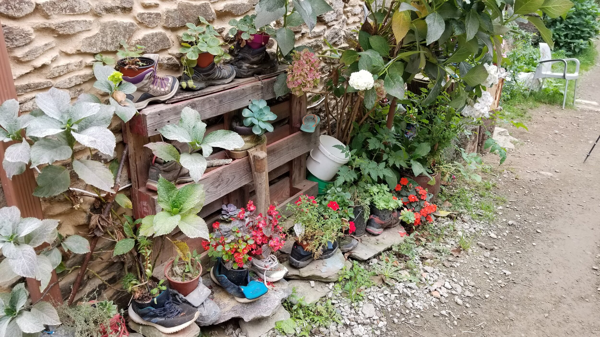 A creative use for old hiking boots!
