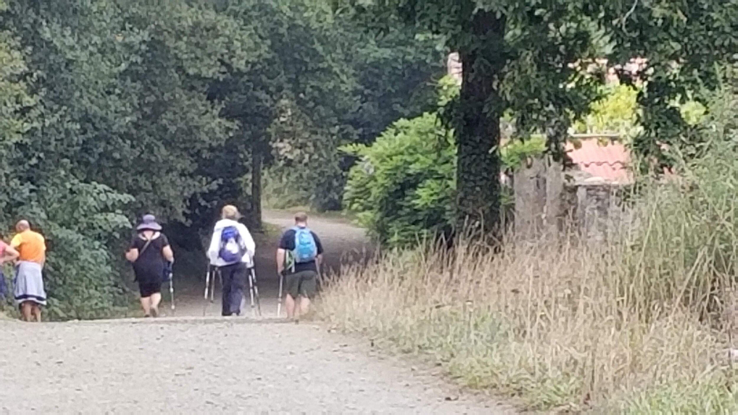 Some of our group on the path