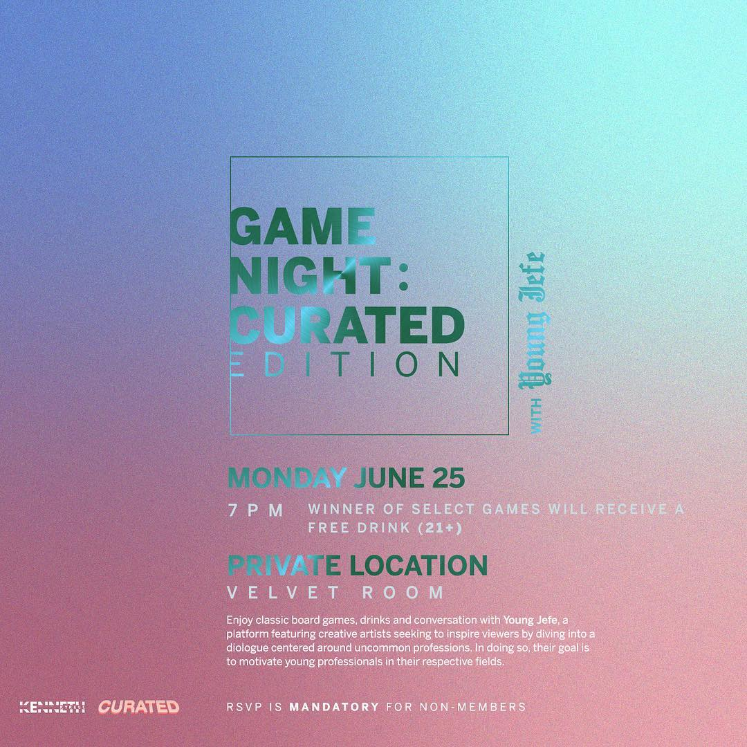 Young Jefe X Ludlow House Game Night (Event Playlist  Here )  June 25th, 2018