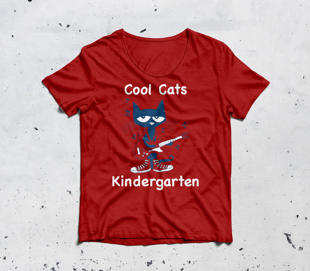 Cool Cats Kindergarten Class:  Front of Shirt