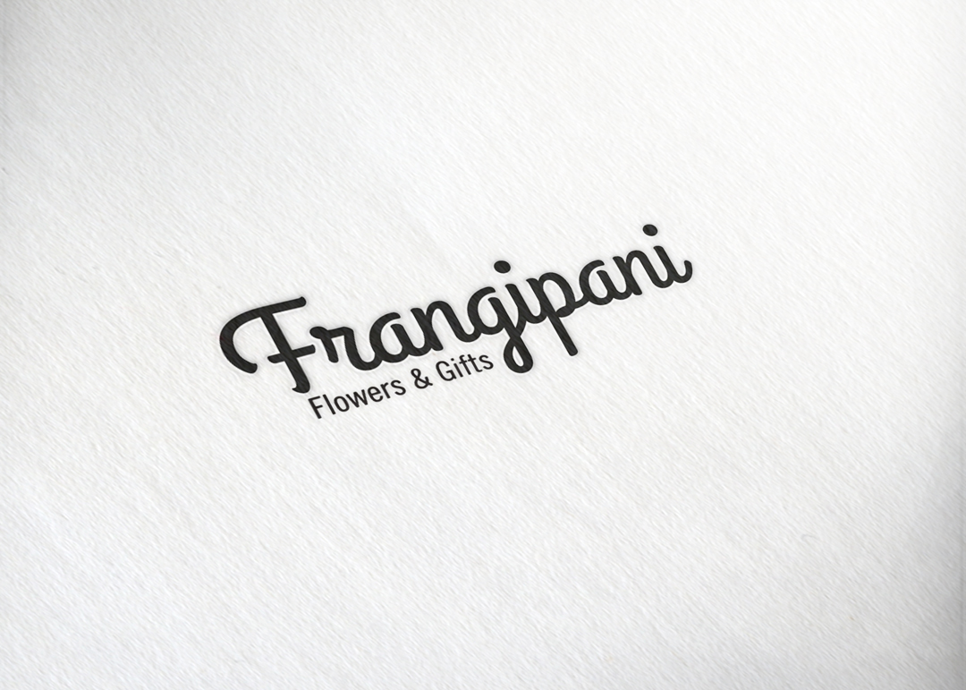 Frangipani Flowers & Gifts:  Text Logo