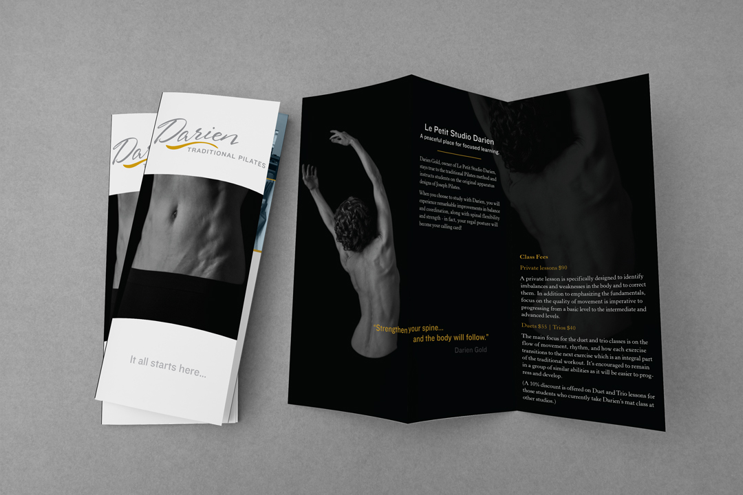 Darien Traditional Pilates:  Tri-Fold Brochure Design