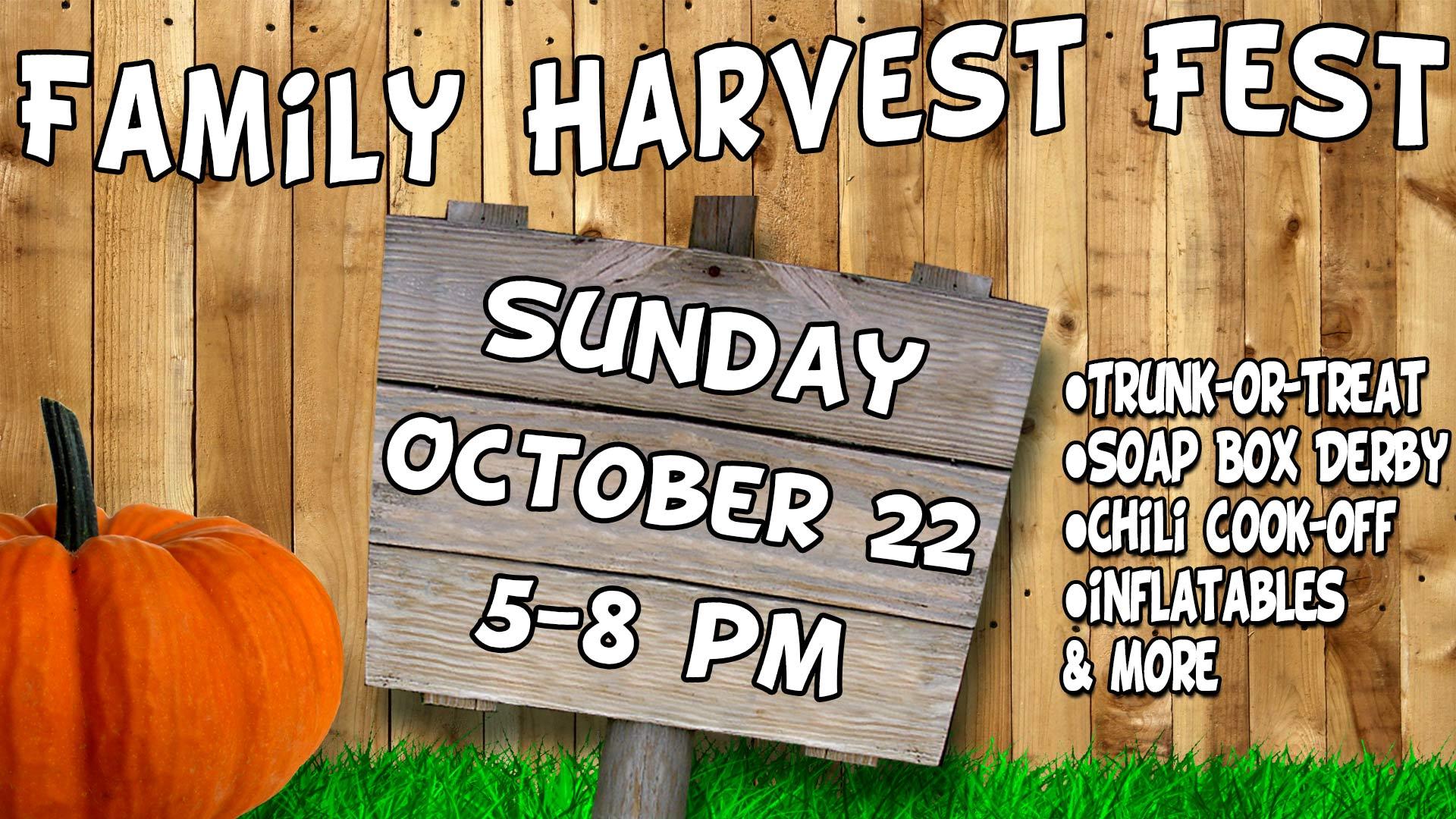 Family Harvest Fest Sign