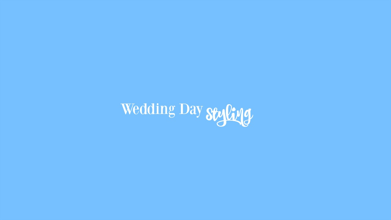 Your Wedding Day. - On your wedding day, for us to style you and your ladies, it is only $75 each person!Make sure to call today to book!