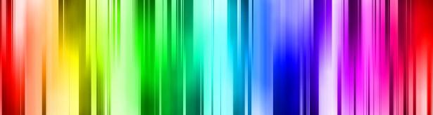 Rainbow colour banner