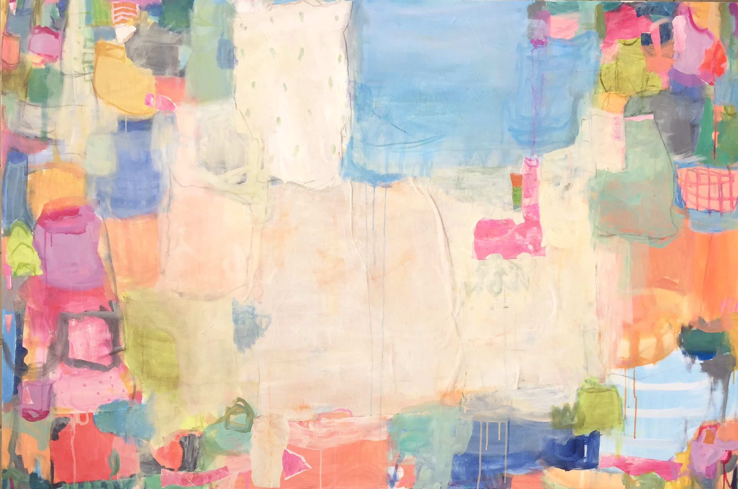 """Kind of Blue  48""""x72"""" mixed media on canvas  SOLD 