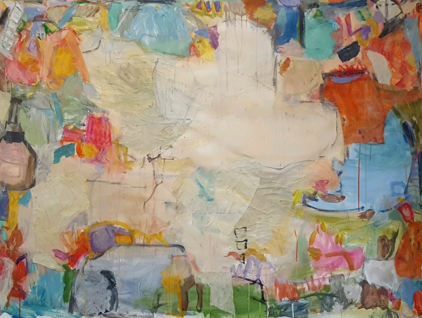 """Mighty Dog  49""""x68"""" mixed media on canvas  SOLD 