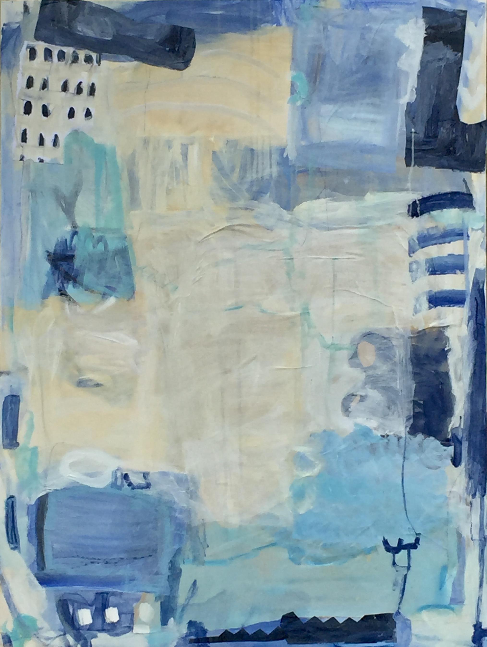 "Sydney Harbor II  36""x48"" mixed media on canvas  available"