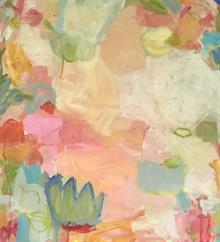 Lily Pad I  31 x 32.5 inches framed mixed media on paper  SOLD | Blue Print Gallery