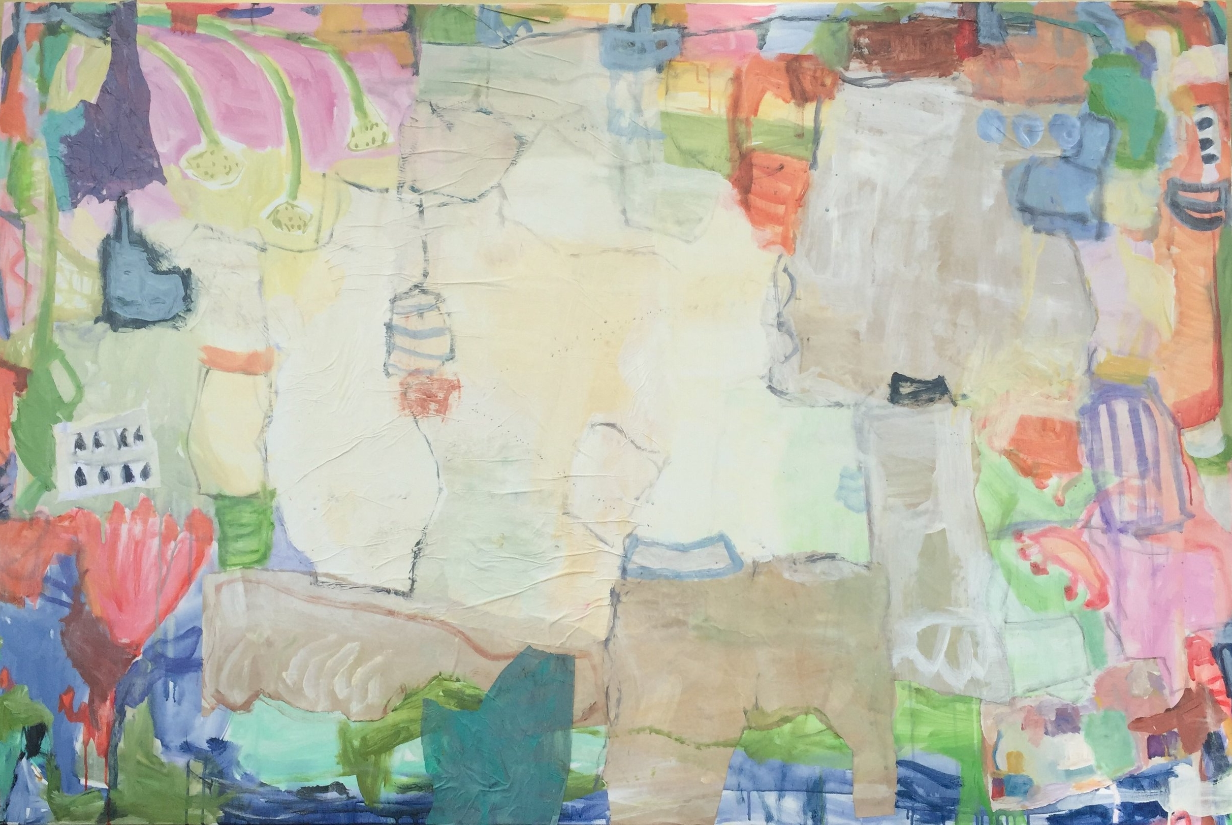 """I Love You Just the Way You Are  48""""x72"""" mixed media on canvas  SOLD"""