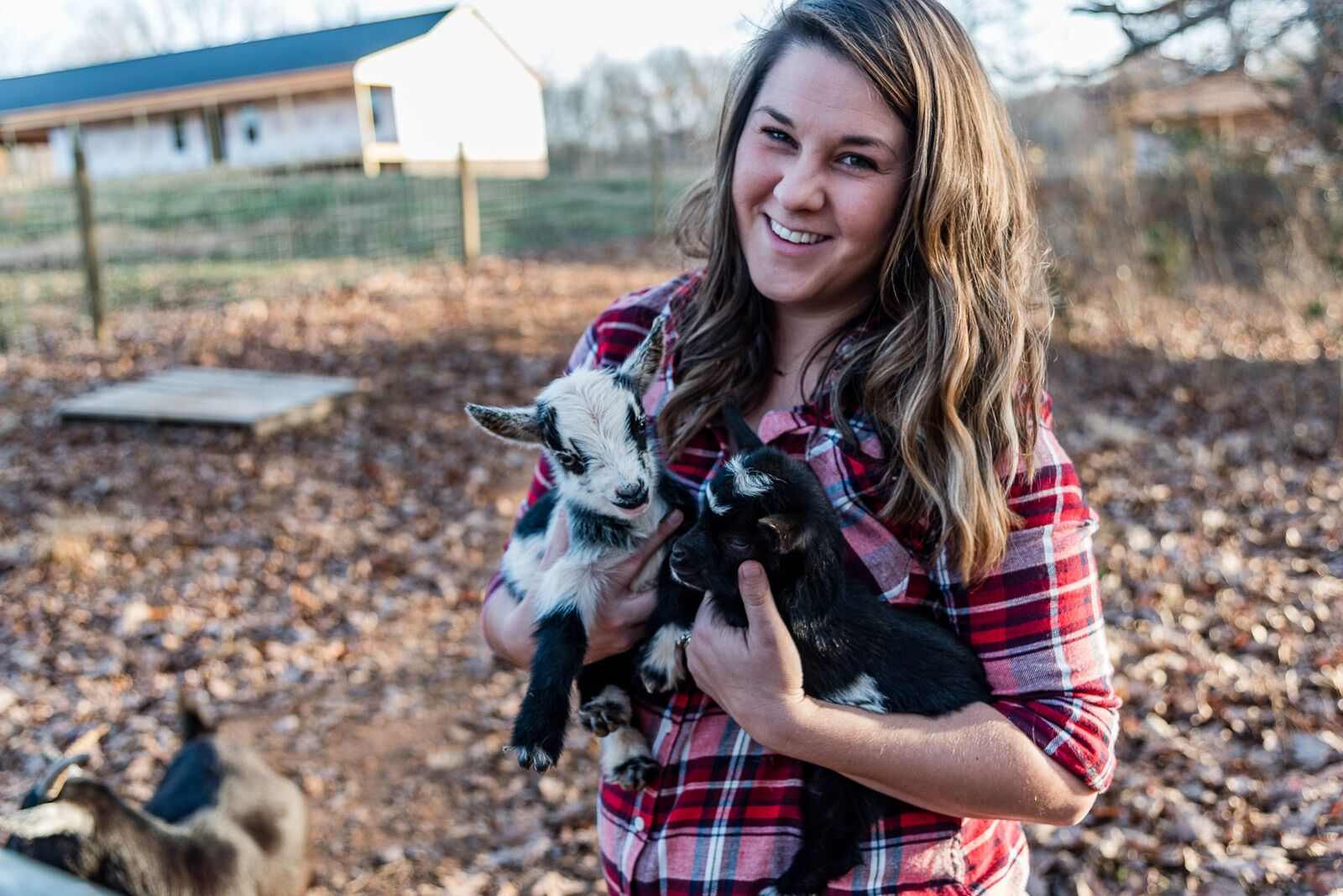 Jess and Goats.JPG