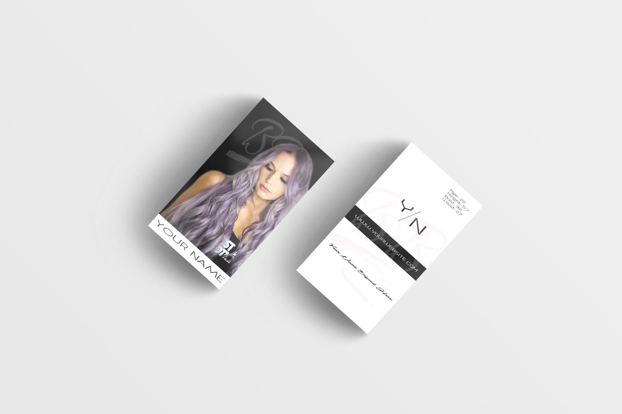 Perfect business card design for models or inspiring models shop today! -