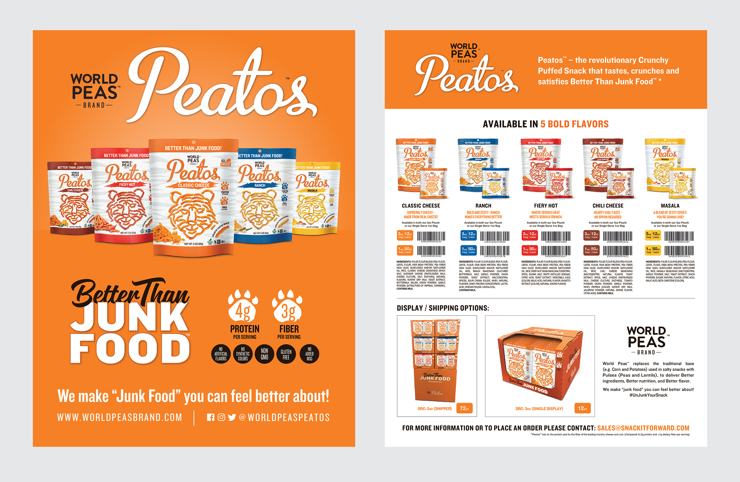 Print Sell Sheet front and back. Illustrator CC.