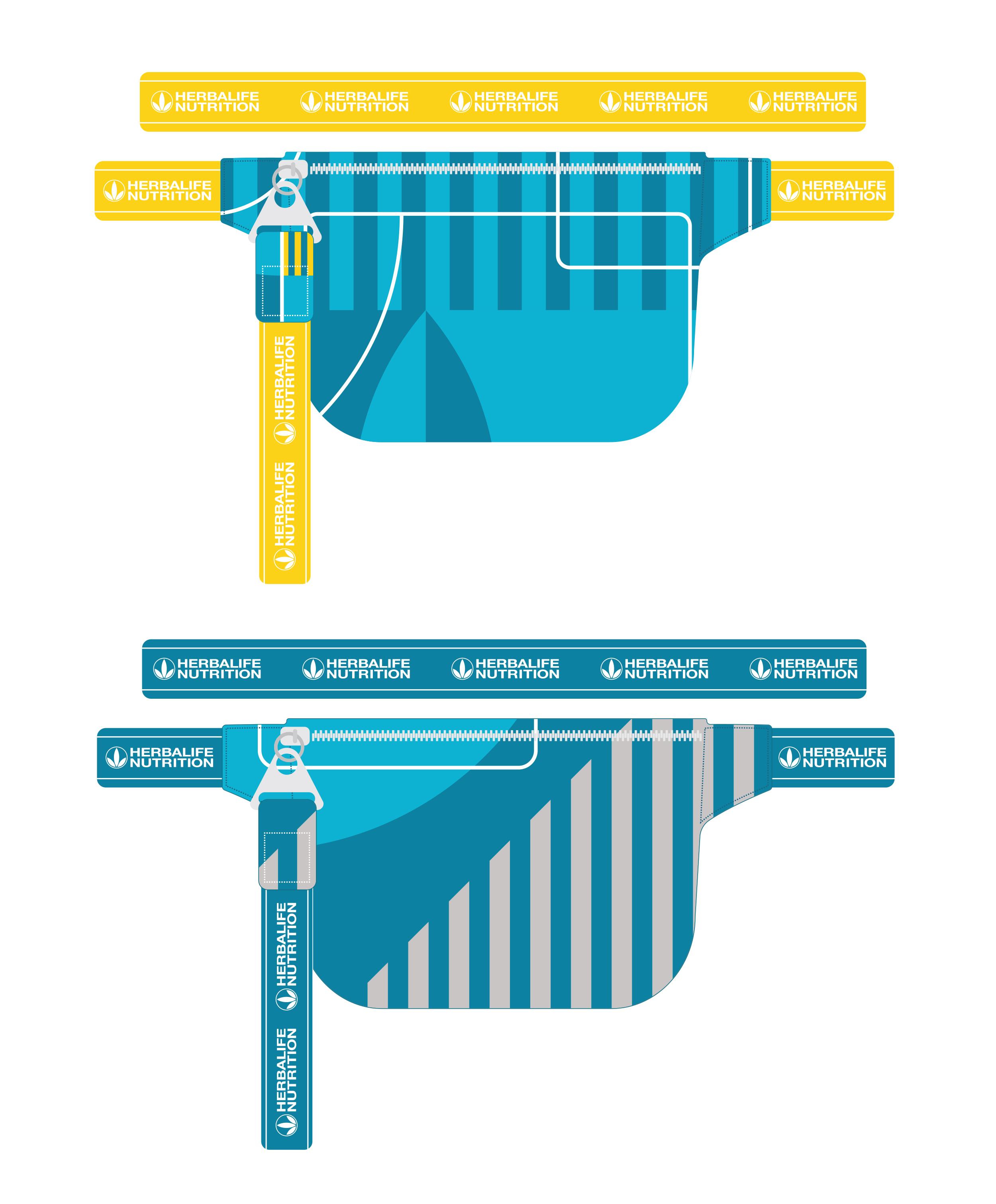 Fanny pack concept designs. Illustrator CC.