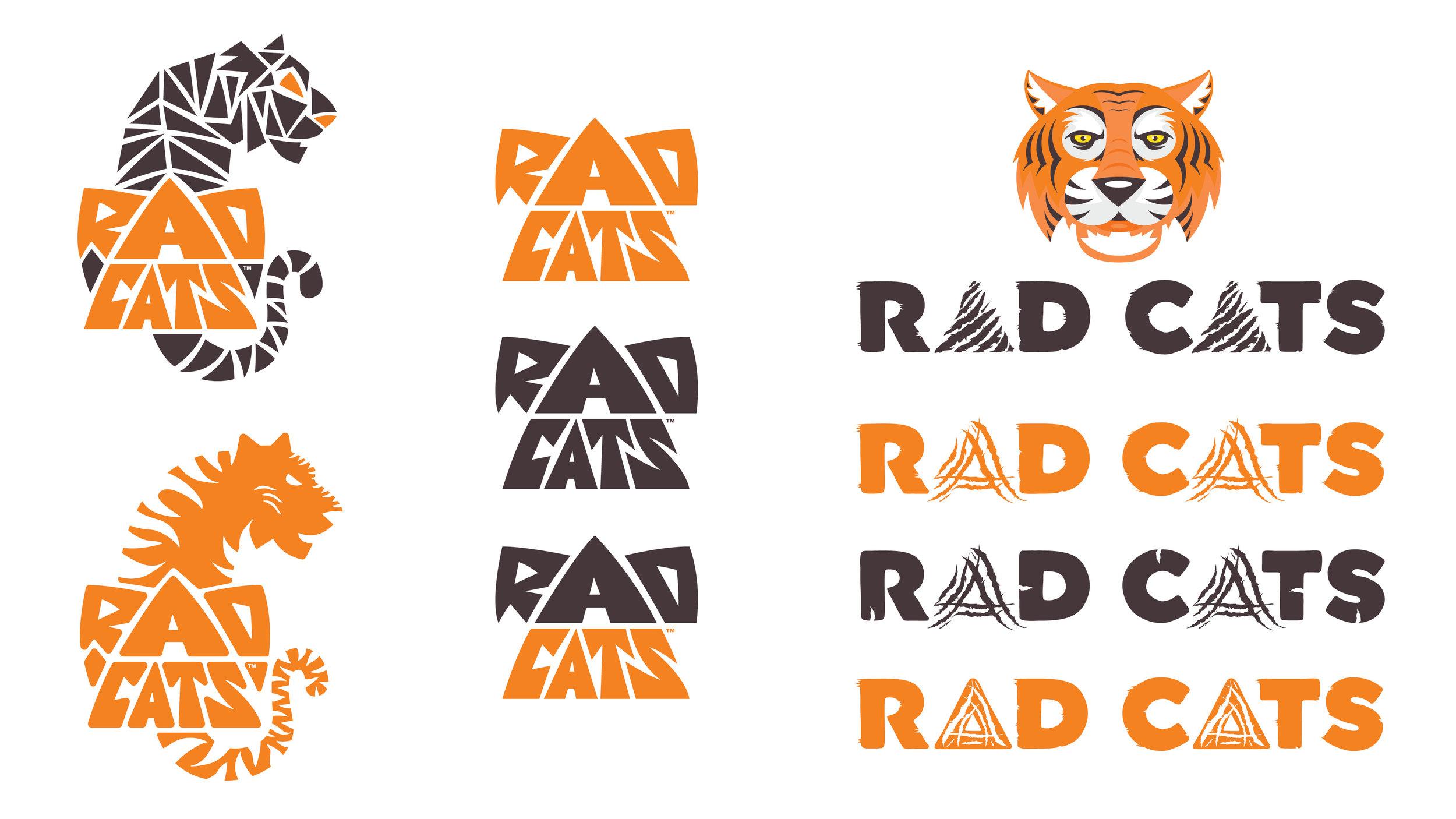 RAD CATS logo explorations. Illustrator CC.