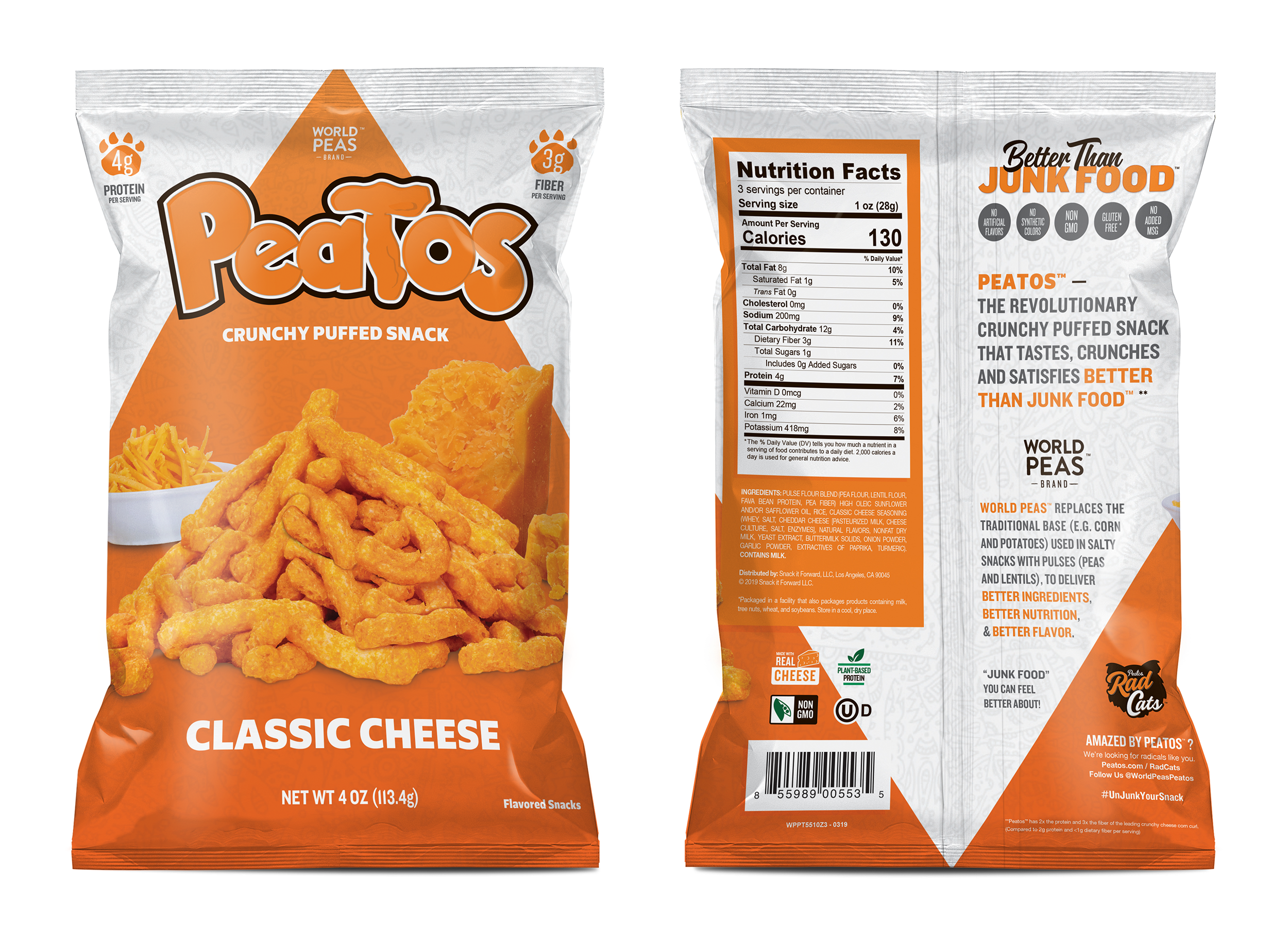 PEATOS Classic Cheese bag packaging design explorations. Illustrator & Photoshop CC.