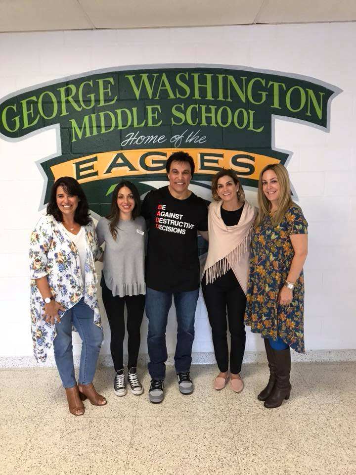 Marc Mero backstage after his life changing presentation at George Washington Middle School.