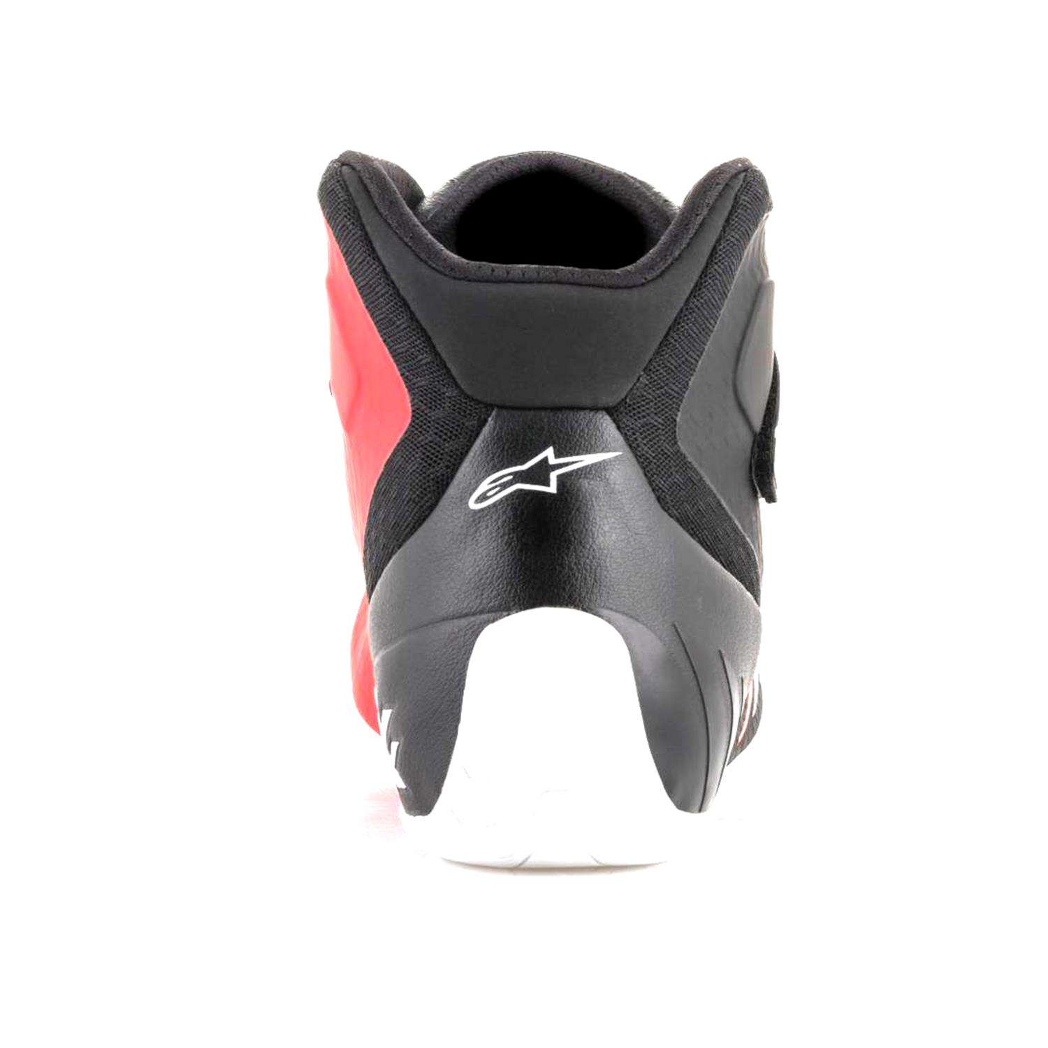 The Karting shoe… - An alternative to buying the more expensive FIA or SFI rated race shoe is to buy a shoe designed for karting. They have the same profiles and characteristics of the race shoe minus the fire-retardant additions so are often lighter.Karting shoes are constructed for the unique, external demands and rigors of the sport. As a result they often use man-made materials, plus the manufacturers do not have to pay for the SFI, FIA certifications which reduces the cost of the shoe.Remember - they are not fire-retardant!