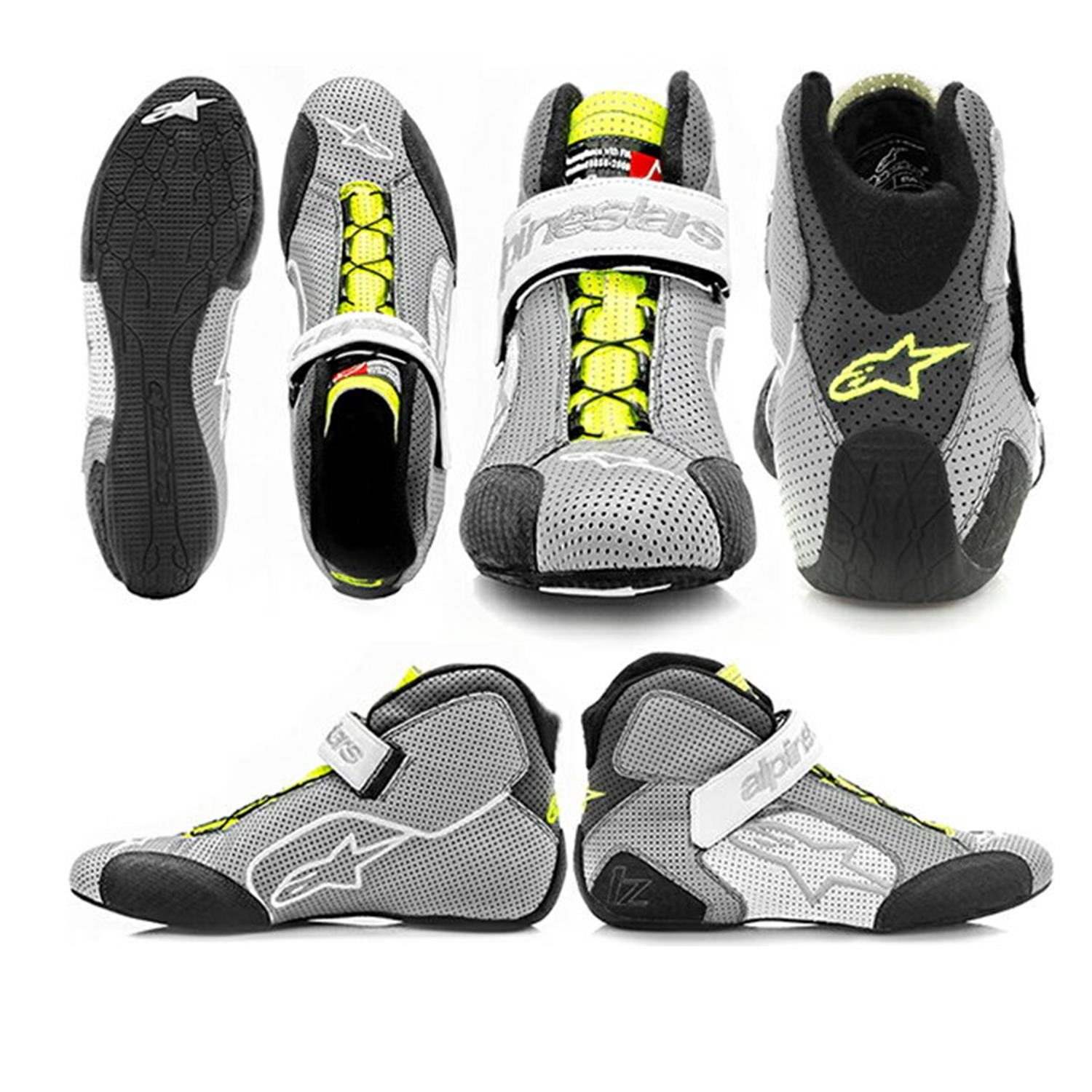 The Best Race Shoes will have… - Natural fibers and an aramid (flame resistant) interior lining.Smooth edges, extremely flat and thin soles, weighted and rounded heels, ankle support, incorporate wear patches at critical locations, utilize a lacing system that will never distract or impede the driver, plus maximize breathability with perforated leather or other technical materialsChoose a brand, model and size that fits your feet. No distractions.Repeat any distractions are both a safety and performance issue!