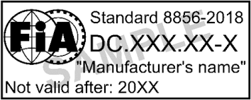 FIA 8856-2018 is the latest standard for all fire proctective clothing. BY 2029 all apparel must be manufactured to this standard. Many of our suits already have this label.