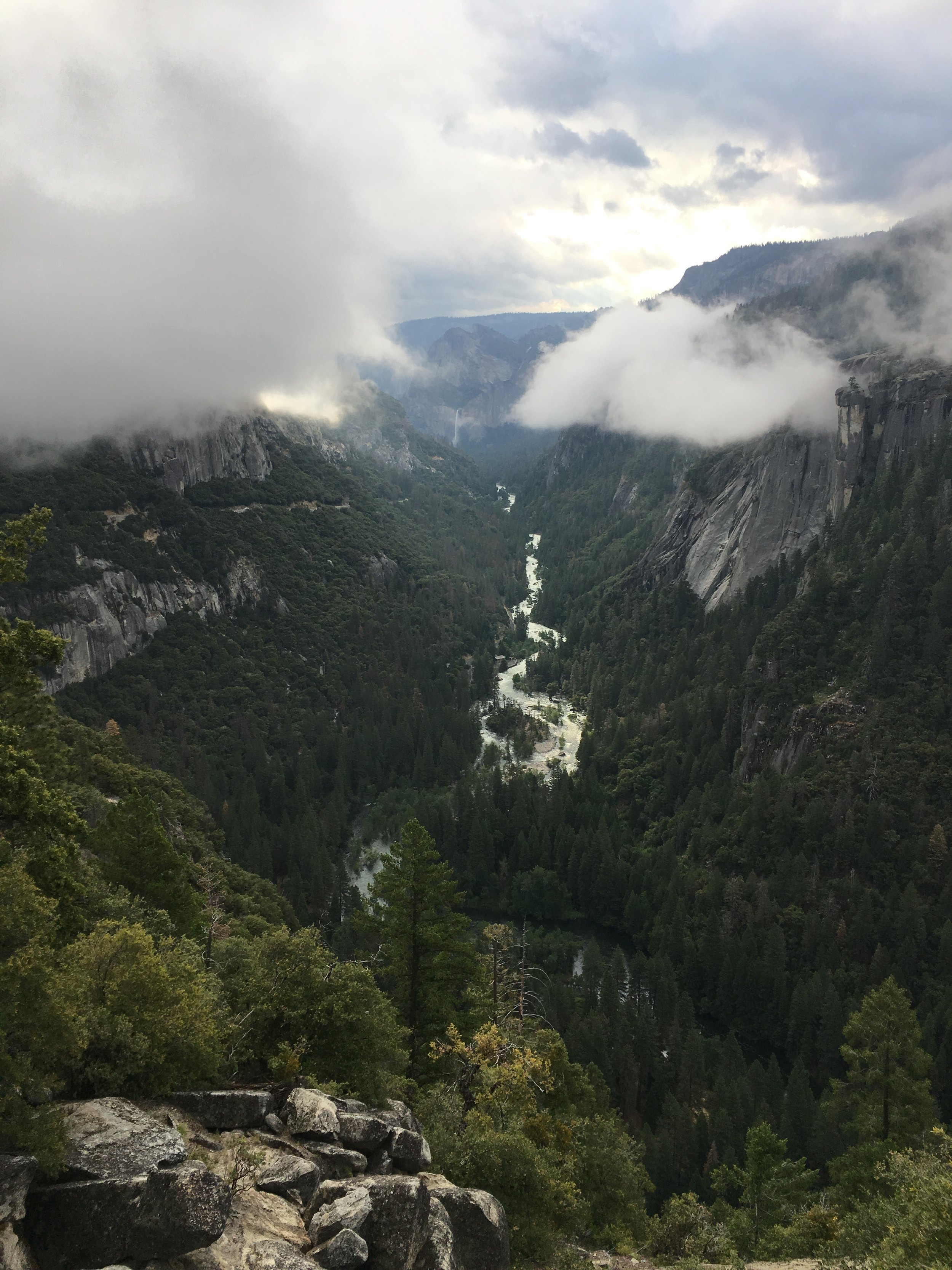 View into the Valley from Highway 120