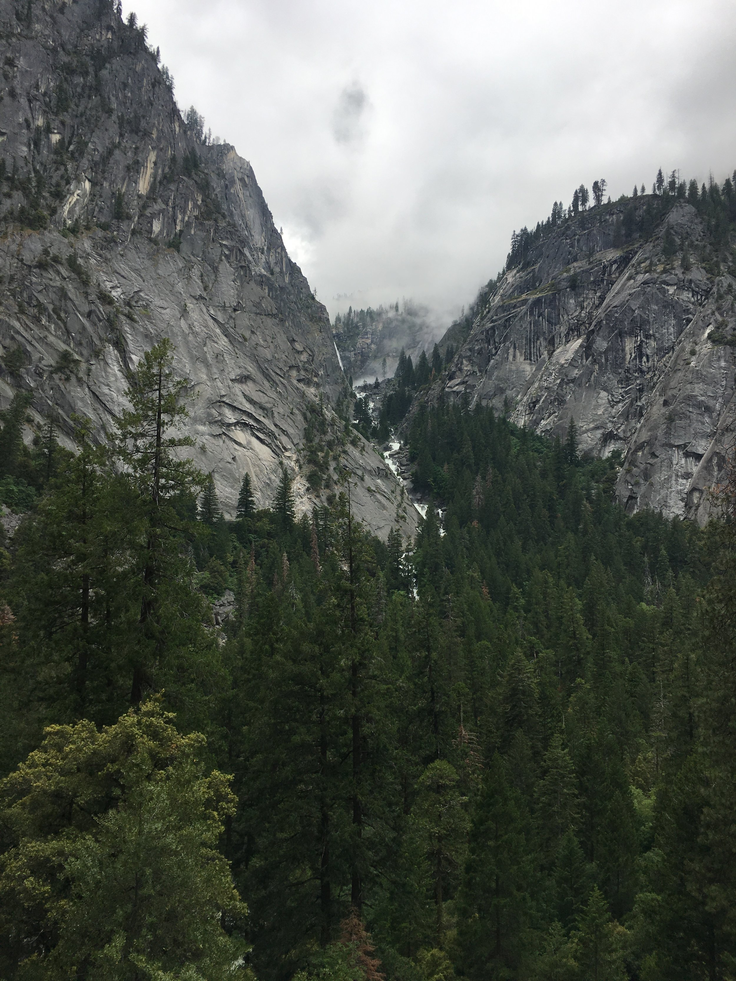 View from hike to Vernal Falls
