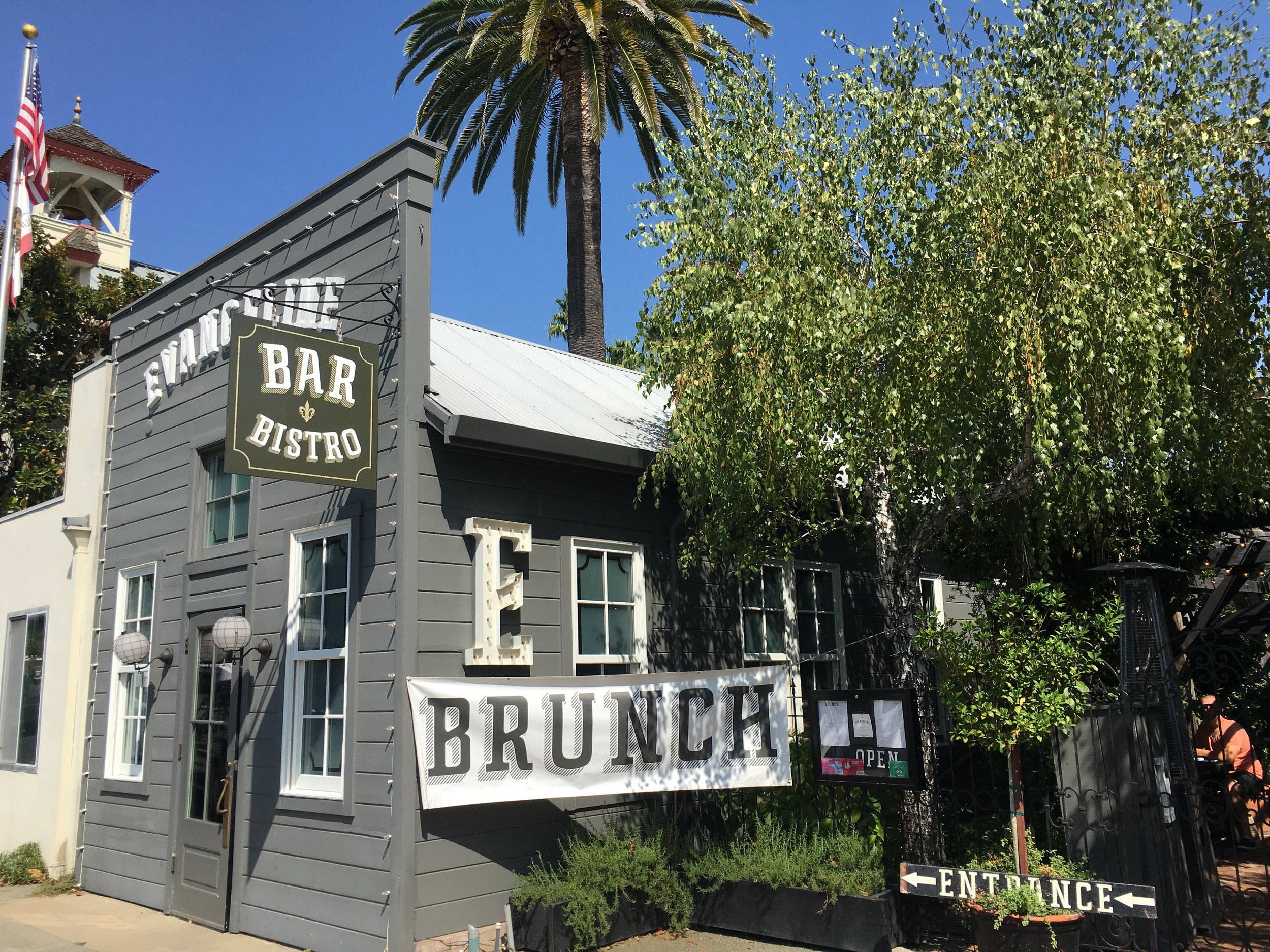 One of the many yummy places to eat in Calistoga.