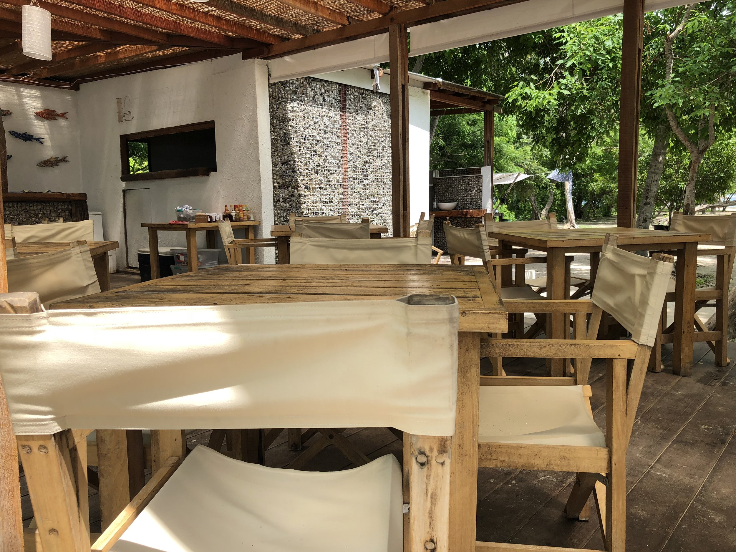 Dining area of Islabela. You choose whether you would like to eat lunch at noon or 12:30pm.