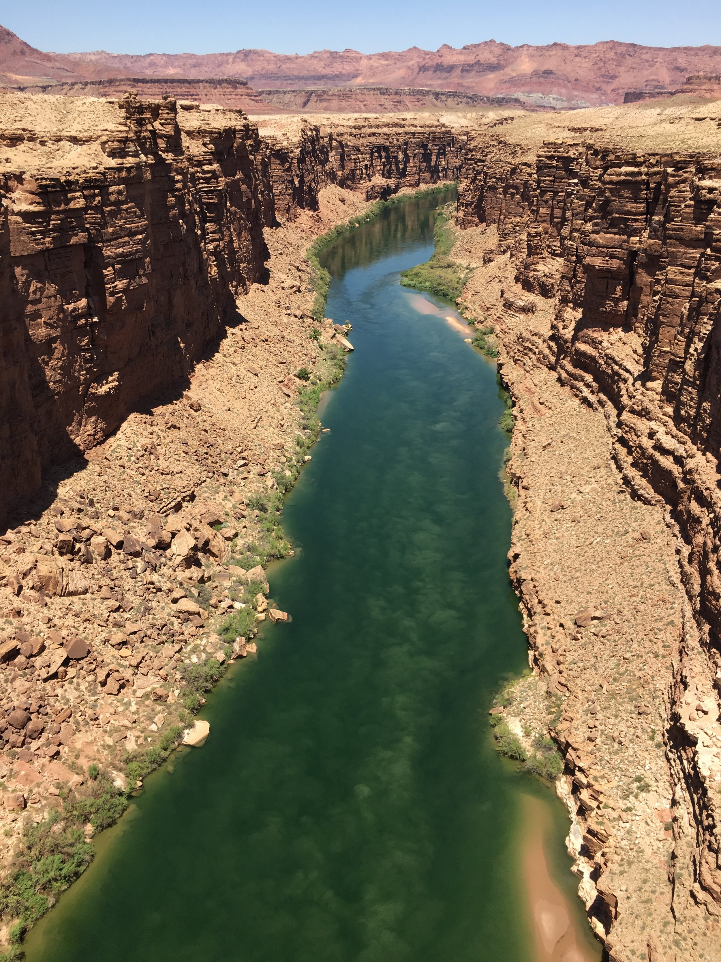 View of Marble Canyon from the Navajo bridge. Located approximately 40 minutes from Horseshoe Bend.