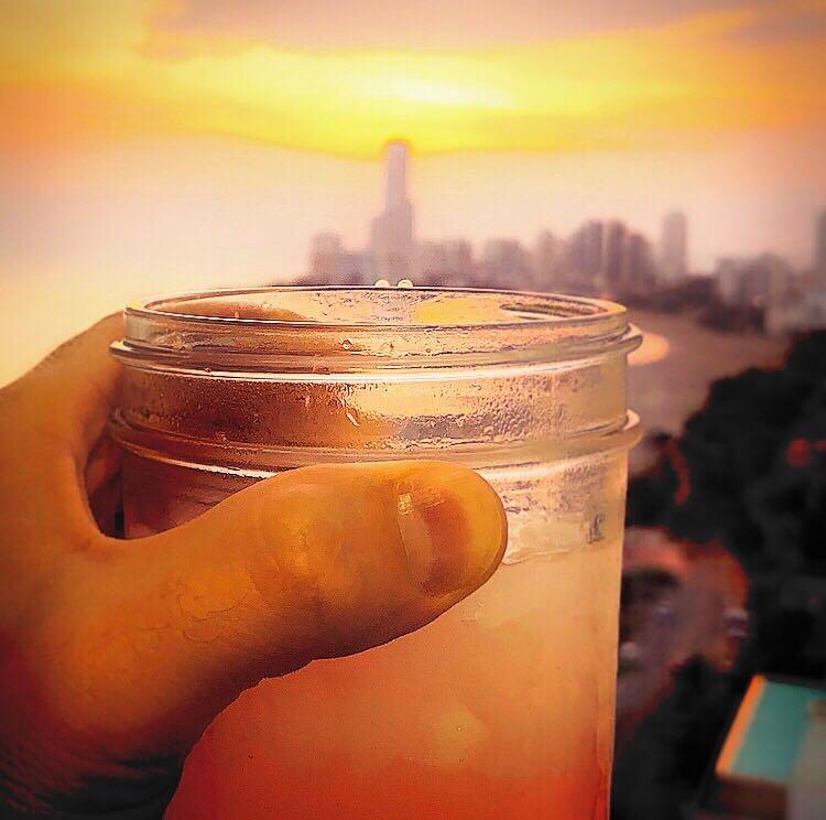 Finished product...the Cartagena Sunset. -
